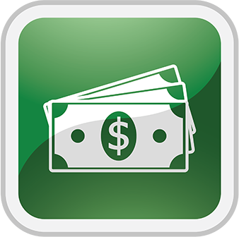 Icon displaying paper currency